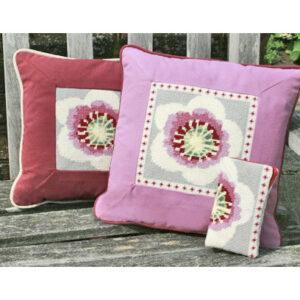 Needlepoint glasses case or cushion inset