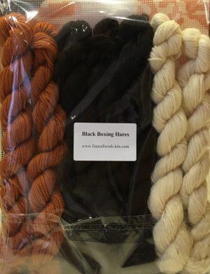 black boxing hares wool