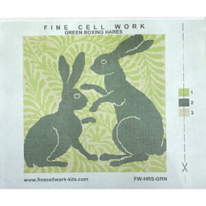 Printed needlepoint canvas