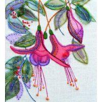 Fuchias Embroidery