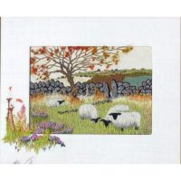 Grazing Sheep Embroidery