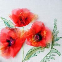 Oriental Poppies Embroidery