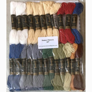 Printed needlepoint kit including wool