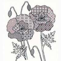Poppy blackwork kit