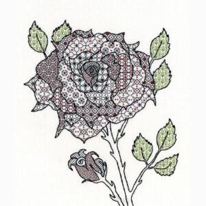 Rose blackwork kit